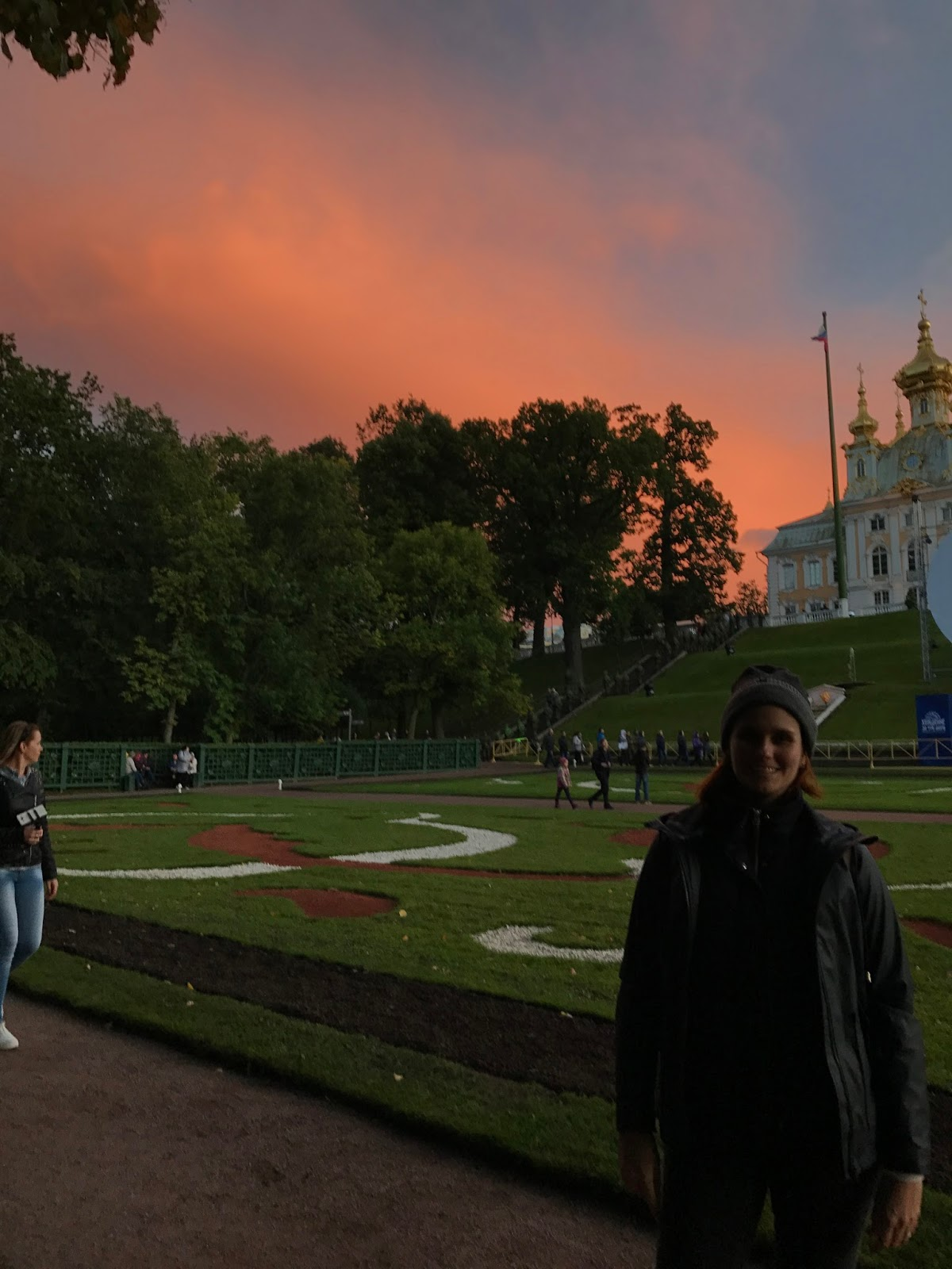 Por do Sol no Peterhof