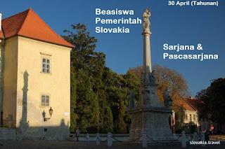 Beasiswa Pemerintah Slovakia untuk Indonesia