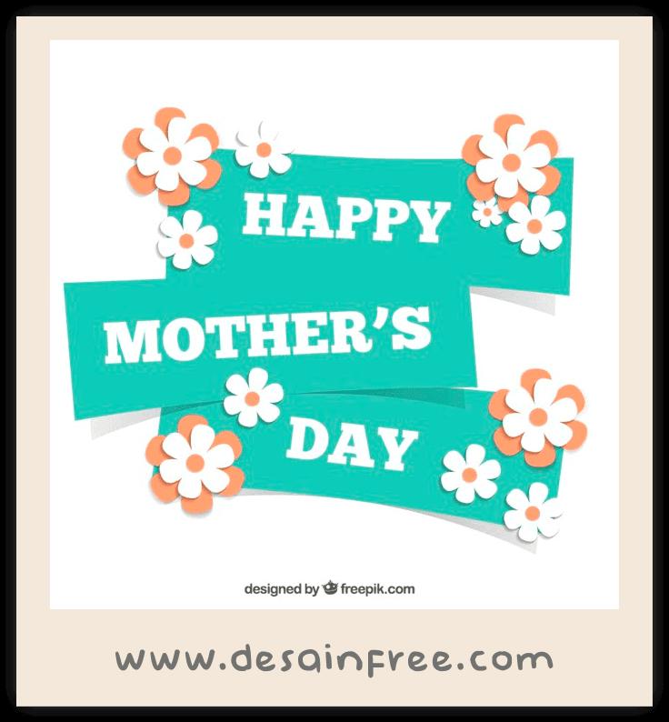 10 Template Kartu Ucapan Dan Banner Hari Ibu (Mother's Day