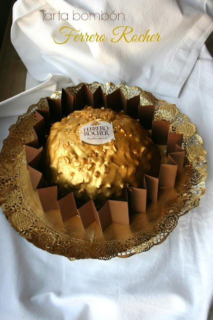 Tarta bombón Ferrero Rocher
