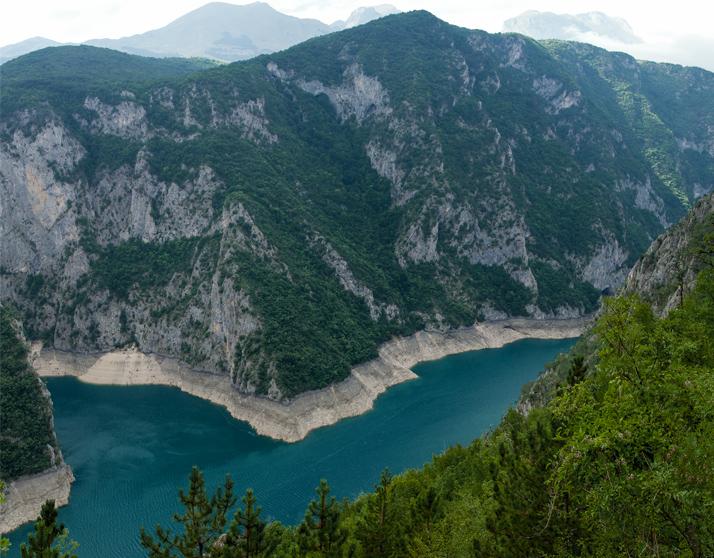 Бирюзовое Пивское озеро, Черногория