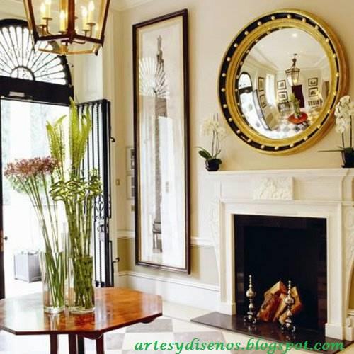 Ideas para decorar con espejos for Espejos redondos para decoracion
