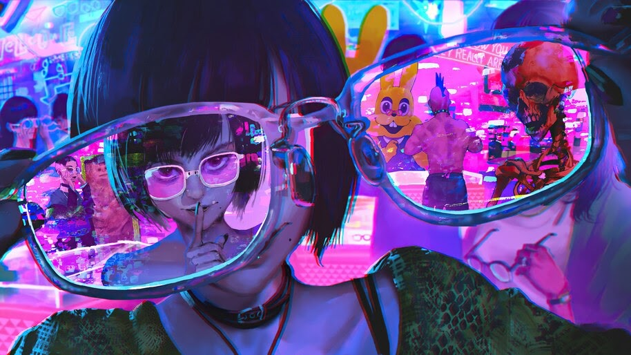 Cyberpunk, Girl, Glasses, Sci-Fi, 4K, #6.1255