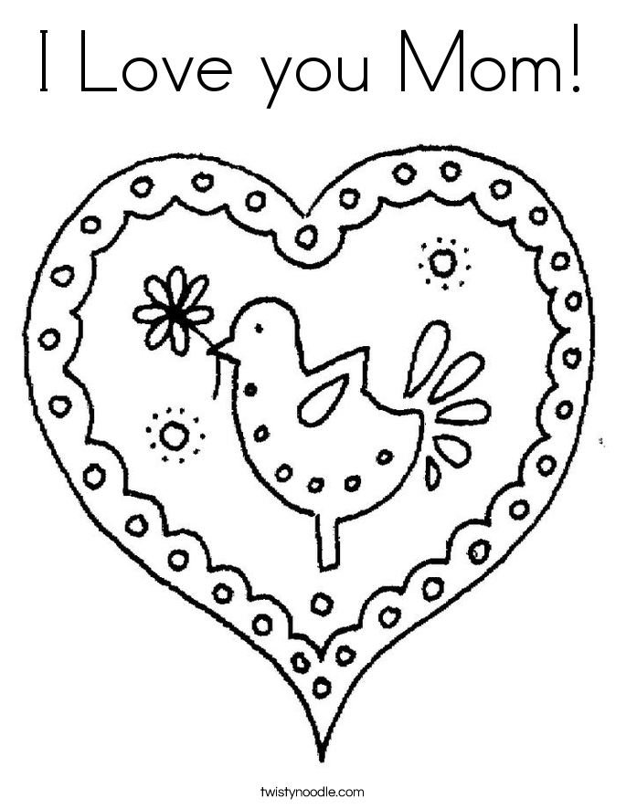 Mom Coloring Pages