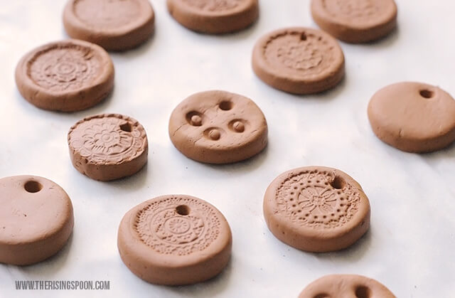 Homemade Clay Necklaces For Essential Oil Diffuser