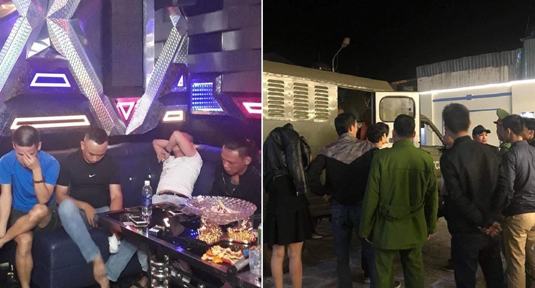 """Gia Lai: Đột kích quán karaoke lúc nửa đêm, phát hiện nhiều dân chơi đang """"phê"""" ma túy"""