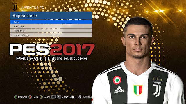 PES 2017 Cristiano Ronaldo Face 2019 by Messi Pradeep