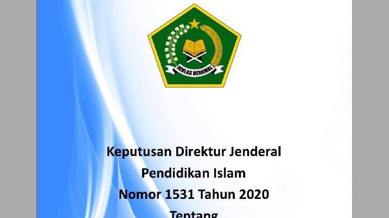 Juknis Pengangkatan Wakil Kepala Madrasah Tahun 2020