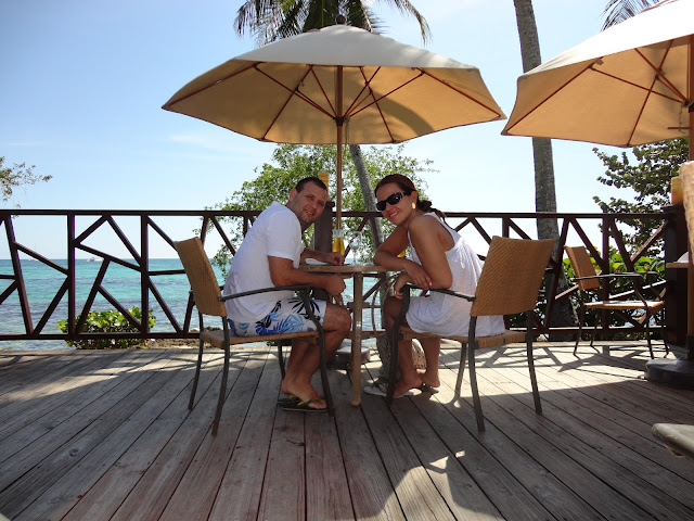 Almoço na beira do mar no hotel Dreams La Romana Resort & Spa