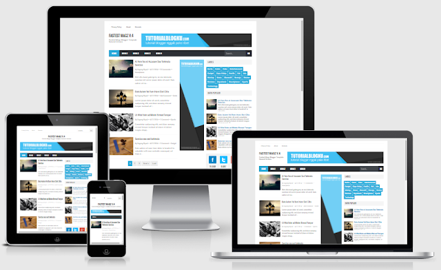 Fastest Magz Blogger Template Update v.4.9