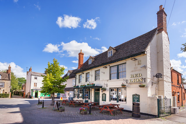 Red Lion pub on The Square in Eynsham Oxfordshire by Martyn Ferry Photography
