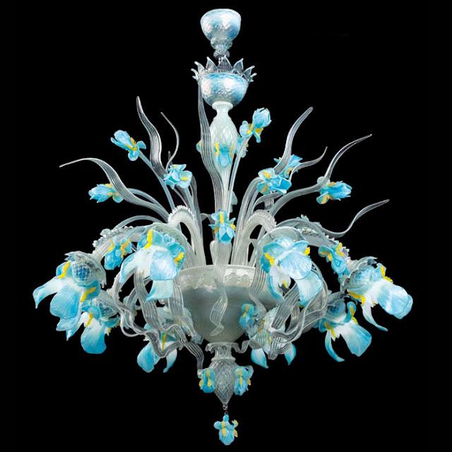 Mobili shabby chic atelier myartistic lampadario vetro for Lampadario vetro murano moderni