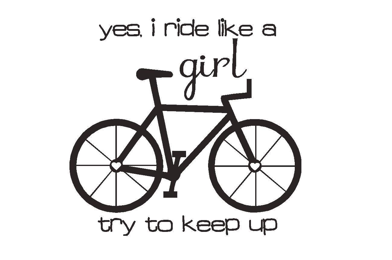 WordCandy Vinyl: Ride like a girl