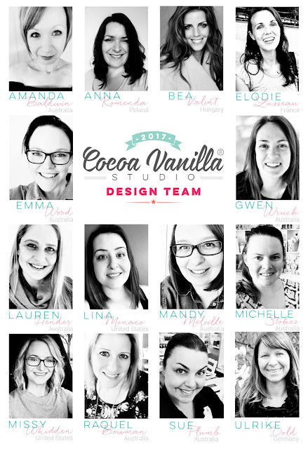 Introducing the 2017 Cocoa Vanilla Design Team.... which includes me!