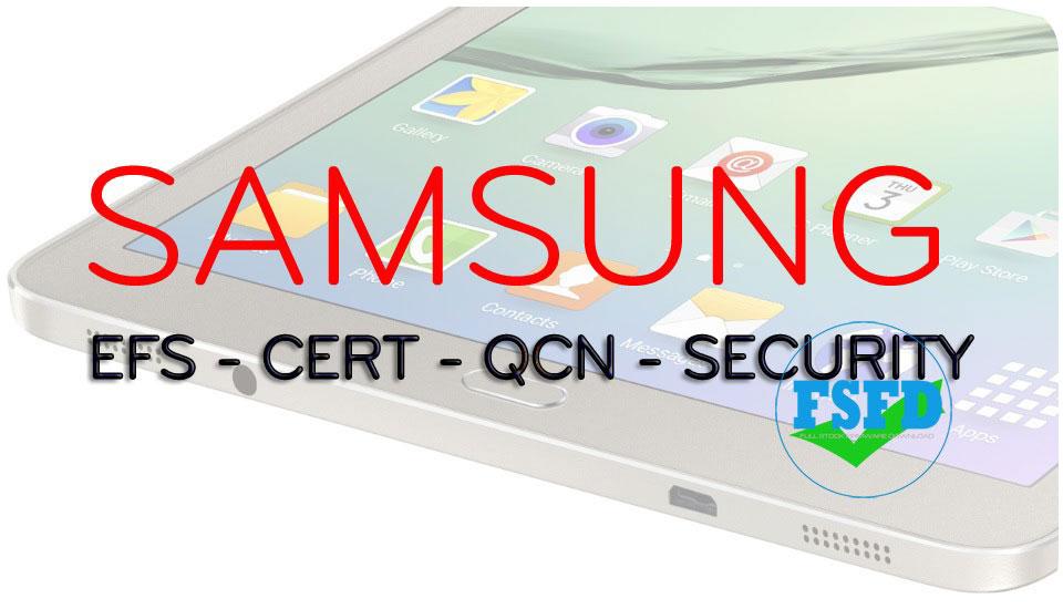 أضخم مجموعة من ملفات CERT - EFS - QCN لأجهزة سامسونج جلاكسي - مدونة