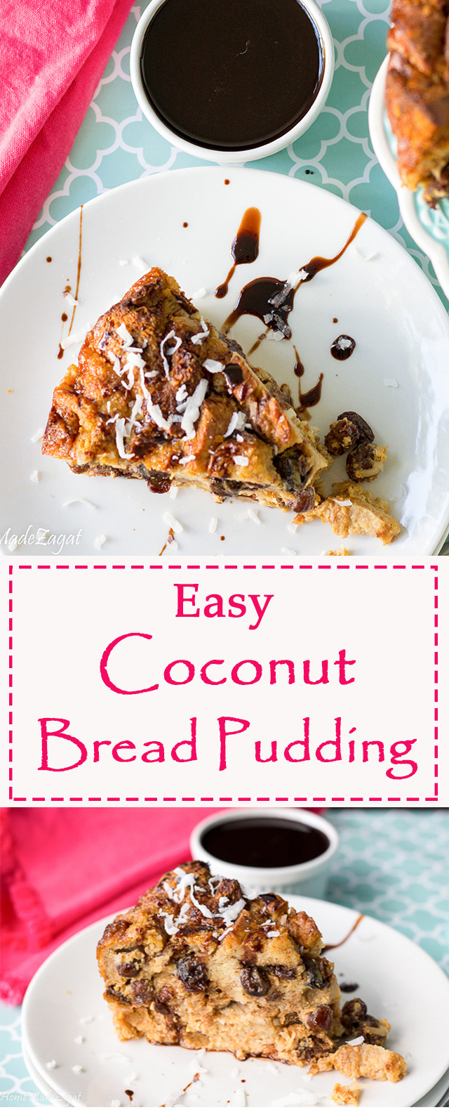 Easy Coconut Bread Pudding