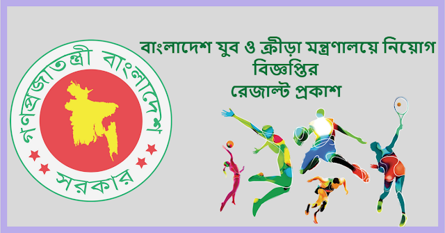 Ministry of Youth and Sports Job Circular Result 2018