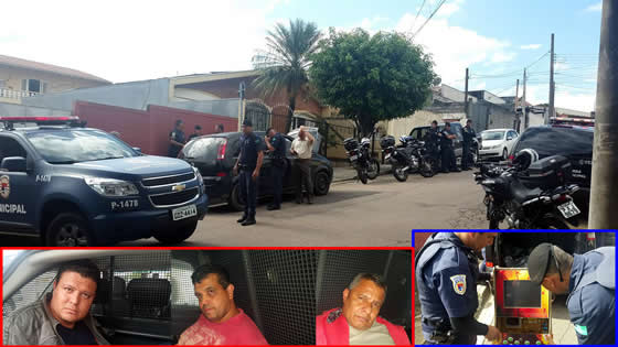 Guardas Municipais de Jundiaí detém trio que roubou aparelho de som de comércio