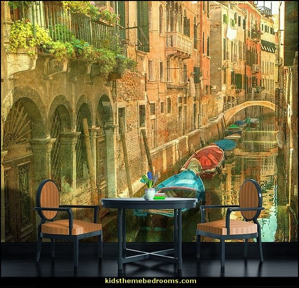 Image gallery italy vintage wallpaper for Antique mural wallpaper