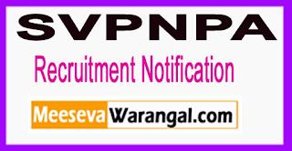SVPNPA Sardar Vallabh bhai Patel National Police Academy Recruitment Notification 2017 Last Date 28-06-2017