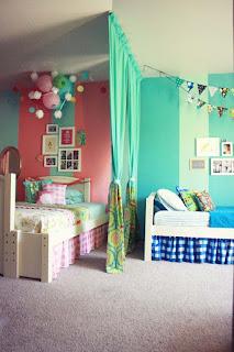 Ideias para decoração de quartos partilhados por menino e menina