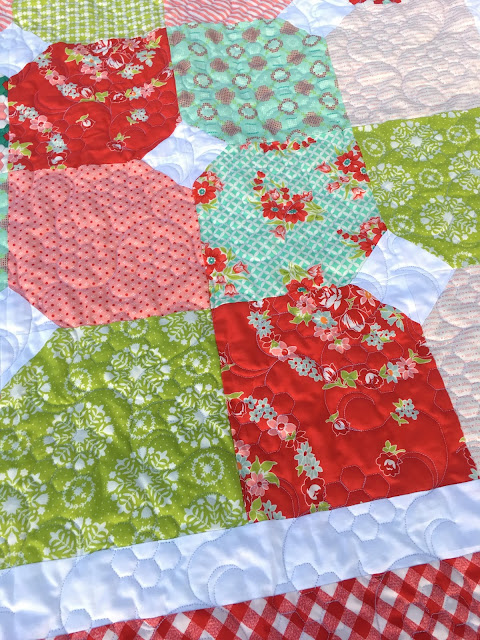 Baby quilt from Sew Sampler box