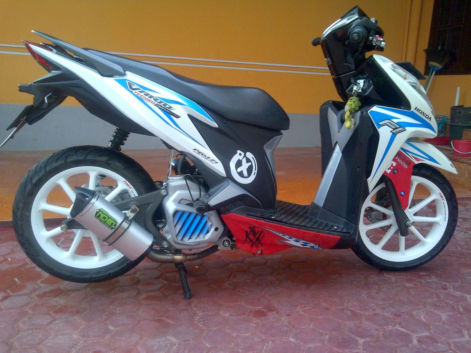 Gambar Modifikasi Motor Vario Techno 125 Terbaru Earth Modification