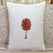 LMD Embroidery Pine cone Art Throw Vintage Liberty Fabric Designer Artistic Cushion