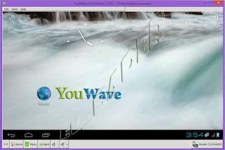 برنامج يو ويف الواجهة الرئيسية YouWave main screen