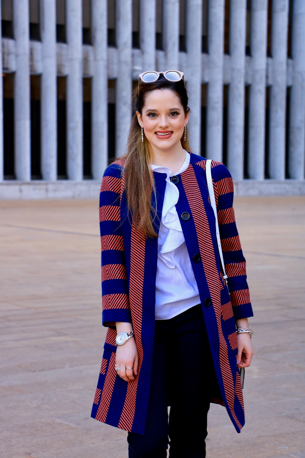 striped ann taylor jacket