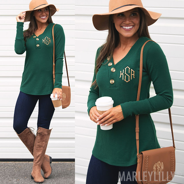 green layering tunic outfit