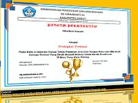 Contoh Piagam Penghargaan Sekolah Untuk Siswa SD/MI Berprestasi