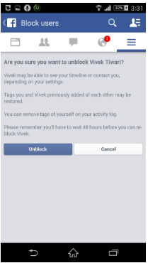 How to Unblock Someone on Facebook App