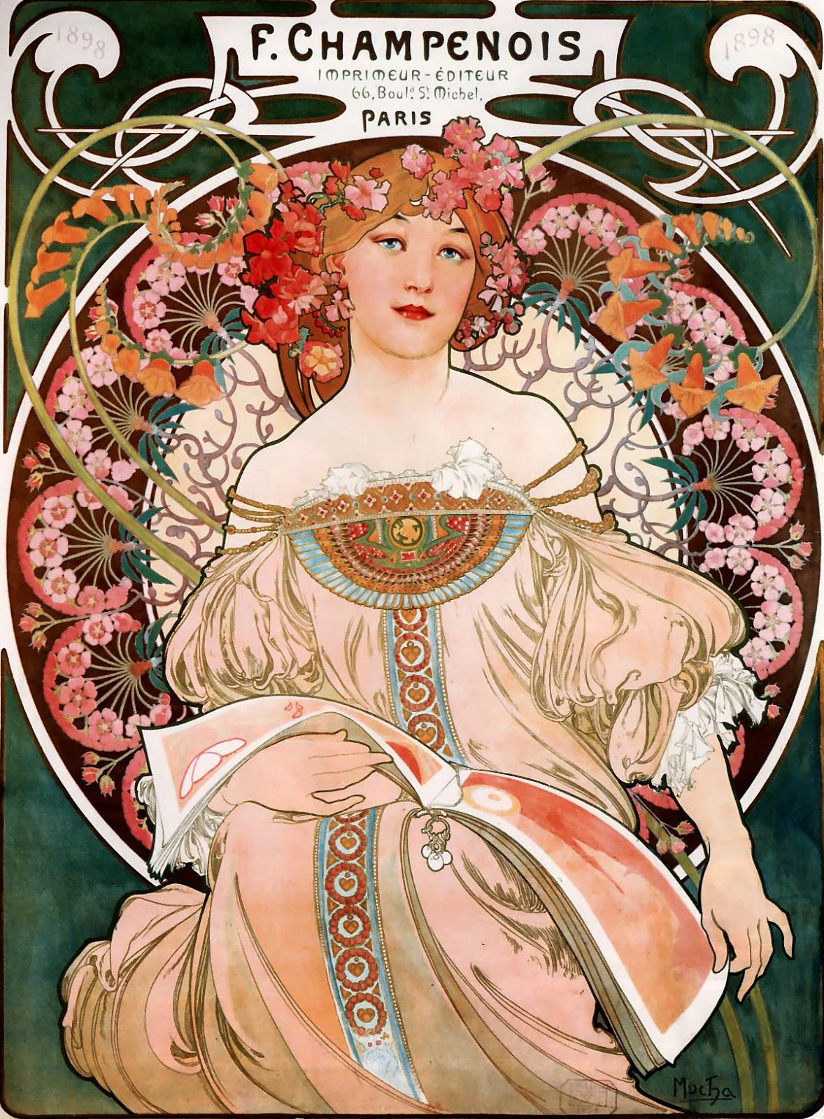 Alphonse mucha art nouveau printmaker
