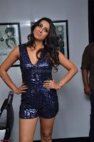 Sanjana looks happy in sparkling short Deep neck Purple Gown ~  Exclusive 67.JPG