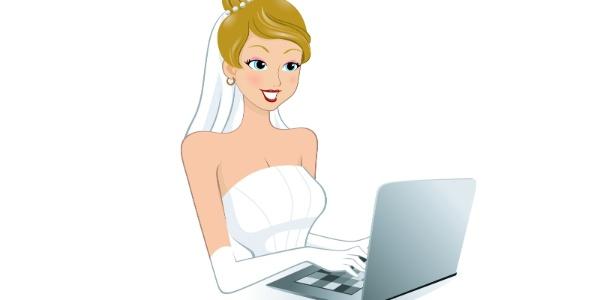 noiva no computador