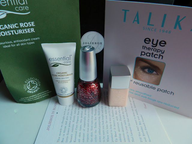contents of the May 2012 JolieBox - blog review including thoughts, swatches and estimate value