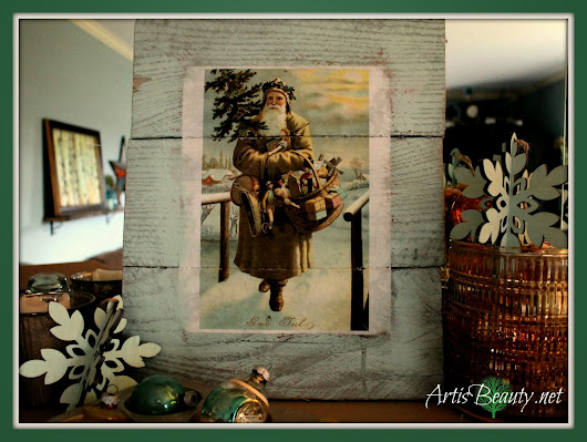 "Christmas ""God Jul"" ""SANTA"" Vintage Pallet Art"