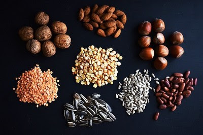 beans, seeds and nuts with phytic acid