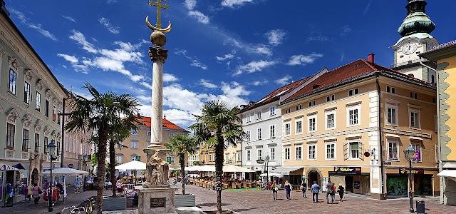 Cidade turística de Klagenfurt na Áustria