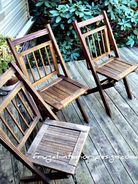 The Frugal Tree Reclaimed Wooden Folding Chairs