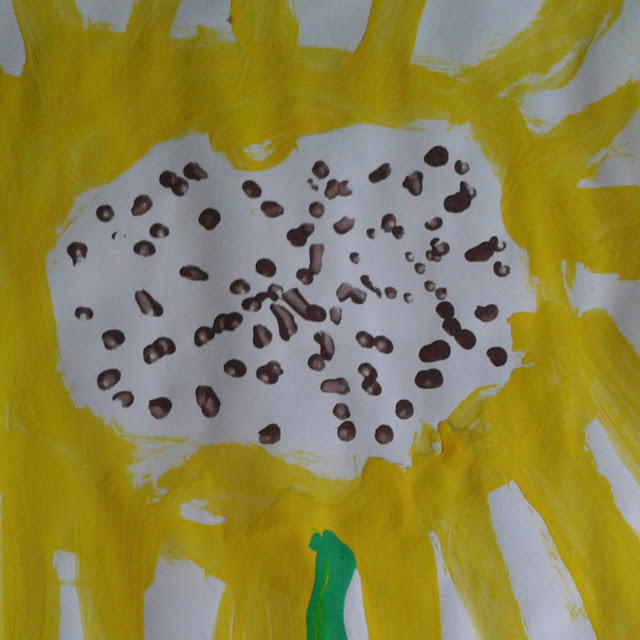 Sunflower crafts, still life painting