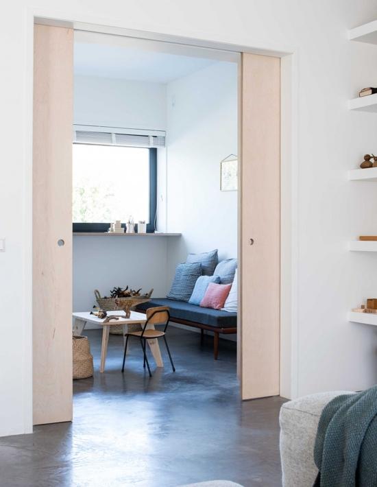 puertas correderas de madera sin tratar