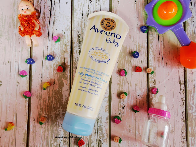 My Baby's Skin loving Aveeno Baby Daily Moisture Lotion | Aveeno Baby Daily Moisture Lotion: Review