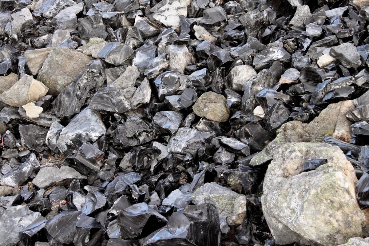 Obsidian Flow, Paulina Lake, Oregon