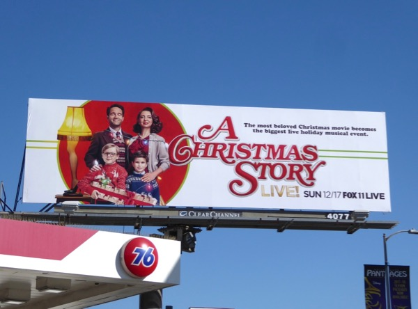 A Christmas Story Live Fox billboard