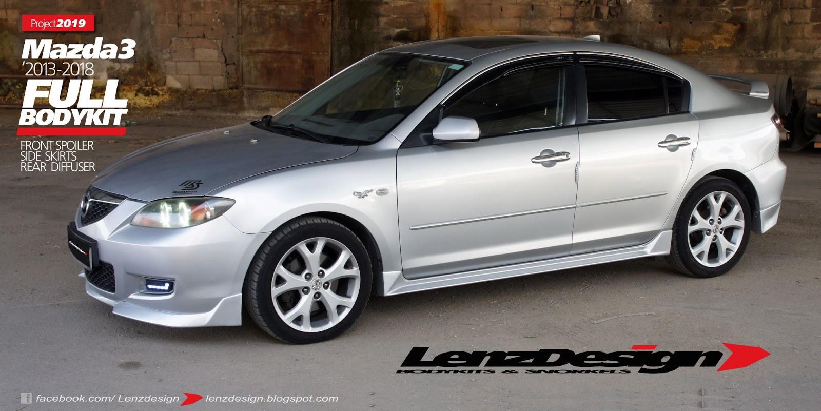 Mazda 3 BK Lenzdesign Bodykit & Spoilers 2003 2004 2005 2006
