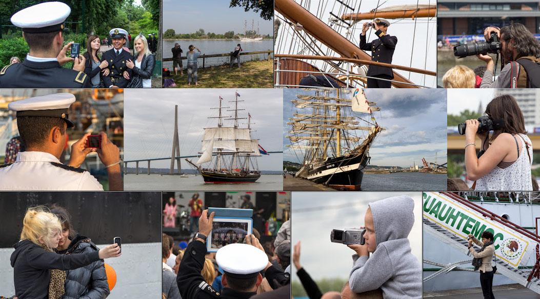 Jour après Jour : Images des bateaux et grands voiliers de l'Armada de Rouen 2019