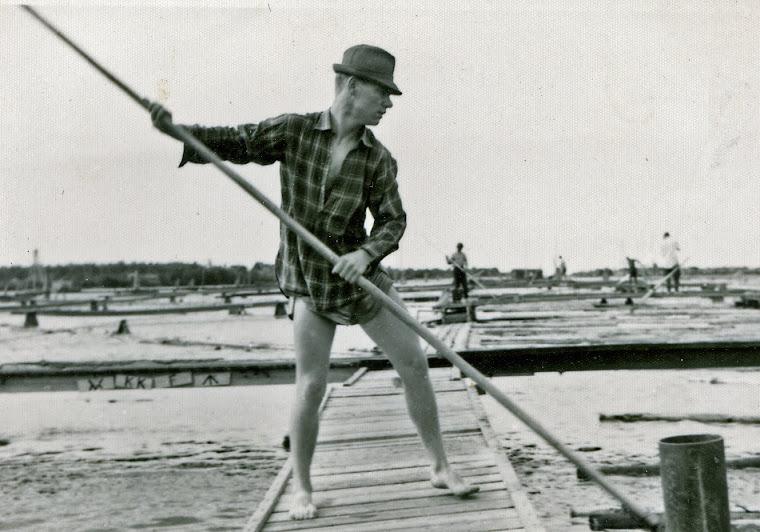 Kuva kirjoittajan, kirjoittajan työpaikka 1956